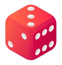 Cheat dice icon isometric style vector