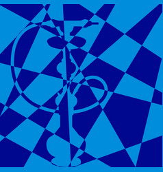 Chess silhouette hiden hookah vector