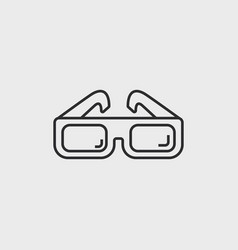 Classic cinema glasses vector