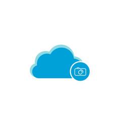 cloud computing icon camera icon vector image