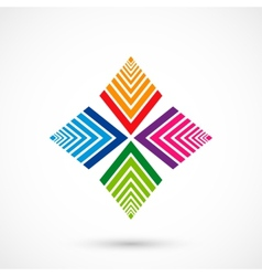 Color pattern icon vector image