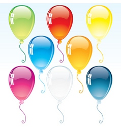 Colorful glossy helium balloon vector