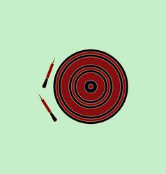 Darts and dartboard vector
