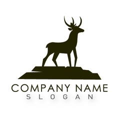 Deer logo 2 vector