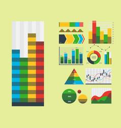 Design diagram chart elements vector