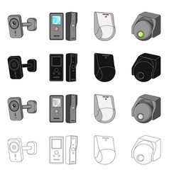Design of cctv and camera logo collection vector