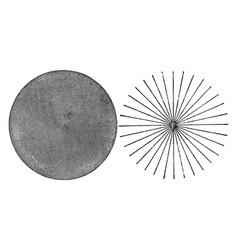 Detection of astigmatism vintage vector