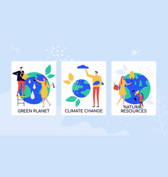 Eco-friendly lifestyle flat colorful banner vector