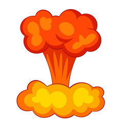 explosion of nuclear bomb icon cartoon style vector image