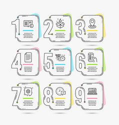 File quick tips and location icons creative idea vector
