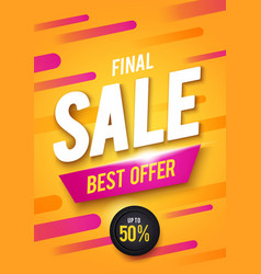 final sale poster or flyer design vector image
