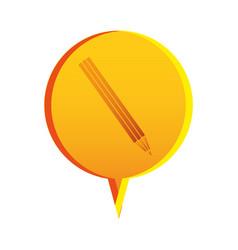 Flat pencil icon education vector