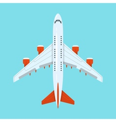 flat style of planes in the sky vector image