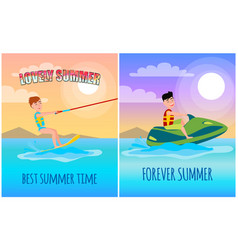 forever summer best lovely time poster vector image