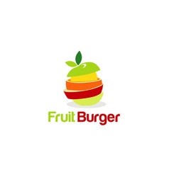 fruit burger creative concept logo symbol vector image