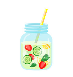 fruit water icon healthy berry beverage for vector image
