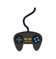 gamepad icon joystick for game console vector image