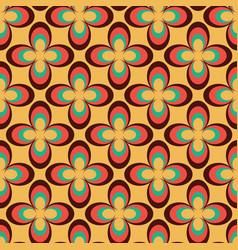 Geometric flower 70s retro vintage style vector