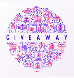 giveaway or gifts concept in circle vector image