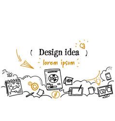 graphic design idea development concept sketch vector image