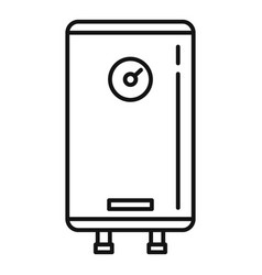 Heater boiler icon outline style vector