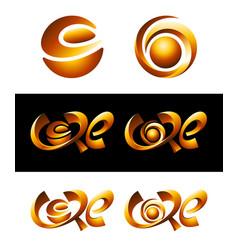 hot core logos vector image