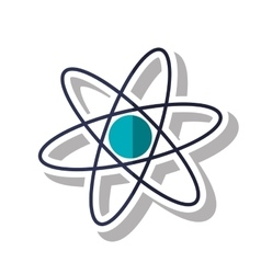 Isolated science atom design vector image vector image