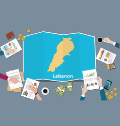 lebanon lebanese republic country growth nation vector image