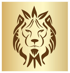 lion head symbol vector image