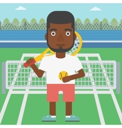 Male tennis player vector image