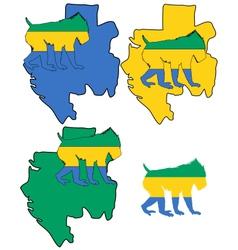 Mandrill Gabon vector