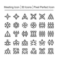 meeting icon vector image