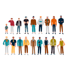 men many male characters different ages vector image