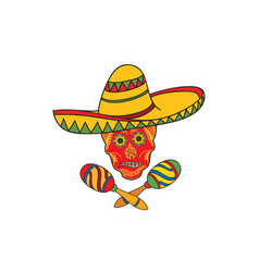 mexican icon welcome to mexico sign vector image