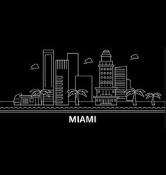 miami city silhouette skyline usa - miami city vector image