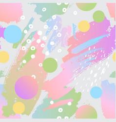 Modern background in 80s 90s pop art style vector