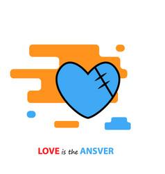 motivation lettering love is ansver vector image