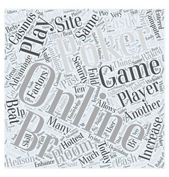 Online poker games Word Cloud Concept vector
