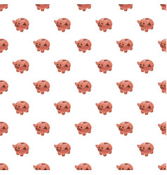 Piggy bank pattern vector
