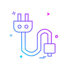 plug icon design vector image