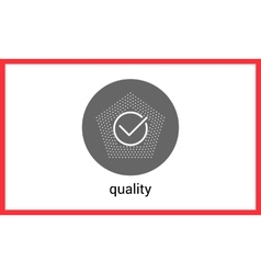 Quality mark contour outline vector image vector image