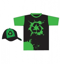 recycle t-shirt vector image