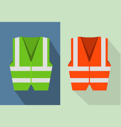 Reflective road safety vests isolated on vector