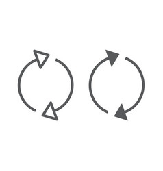 Reload line and glyph icon rotation and spin vector
