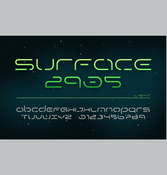 sci-fi futuristic technology alphabet uppercase vector image