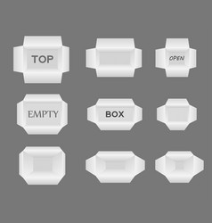 set boxes different sizes for your design vector image