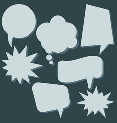 set of speech bubbles without phrases vector image