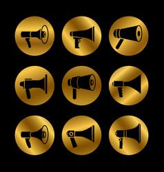 silhouette megaphone announcement loudspeaker vector image
