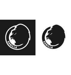 Silhouette of an gorilla monochrome logo vector