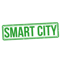 smart city grunge rubber stamp vector image
